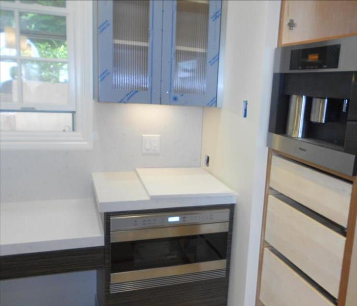 contemporary cabinets and countertops after remodel
