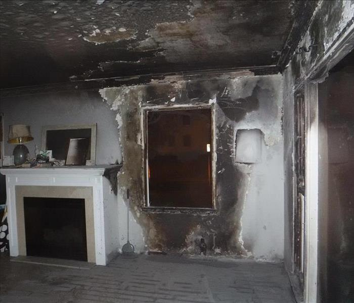 Fire Damage  Before