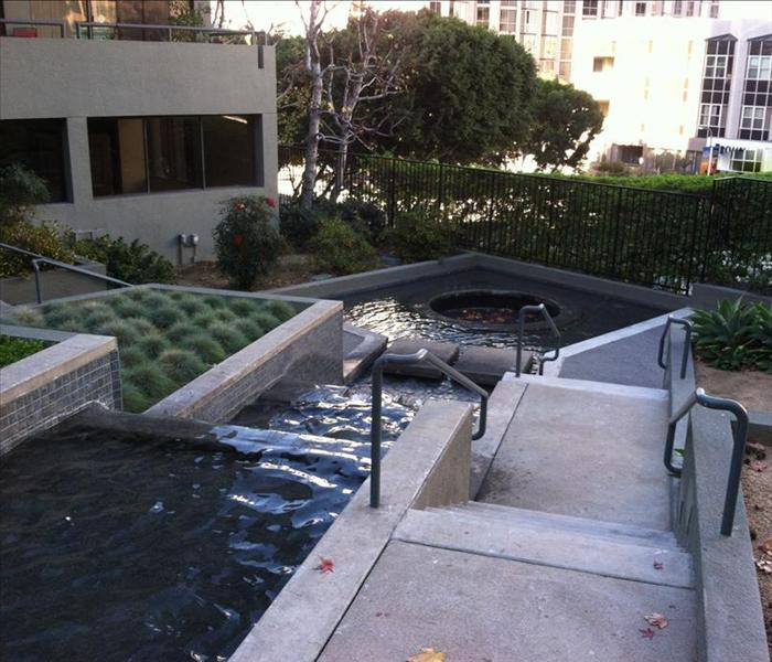 HOA Fountain Flooded with Mud - Los Angeles